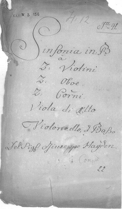 La variante di Haydn. L'autografo della sinfonia Hob. I:35.