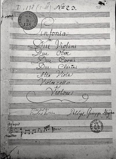 J. Haydn, il copista di Hob. I:50.