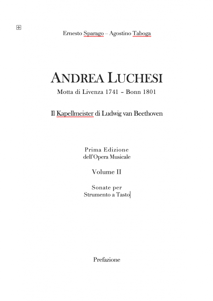 Opera Musicale di Andrea Luchesi. Volume II.